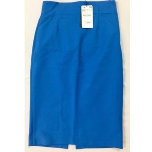 Zara Woman Cobalt Blue Pencil Skirt Sz XS